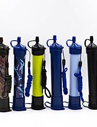 Недорогие -Портативные Фильтры для воды и очистители пластик Фильтрация воды для На открытом воздухе Повседневное использование 1 pcs Черный Морской синий Белый Желтый Камуфляжный