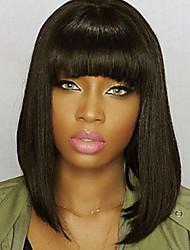 Недорогие -человеческие волосы Remy Полностью ленточные Лента спереди Парик Бразильские волосы Естественный прямой Парик Короткий Боб 130% 150% 180% Плотность волос Сияние Sexy Lady Cool Удобный удобный