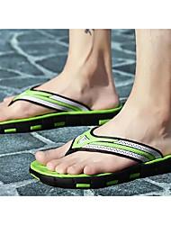 hesapli -Erkek Ayakkabı PVC Yaz Terlik & Flip-flops Günlük / Ev için Koyu Mavi / Siyah / Kırmızı / Siyah / Yeşil