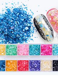 baratos -12 pcs Purpurina Multifunção / Melhor qualidade Criativo Salao de beleza arte de unha Manicure e pedicure Diário Na moda / Fashion