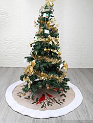 billige -Juletræer / Jul / Julepynt Ferie / Juletræ Tekstil Rund / Cirkelformet Fest julepynt