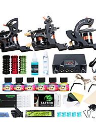 Недорогие -Татуировочная машина Набор для начинающих - 3 pcs татуировки машины с 6 x 5 ml татуировки чернила LCD питания No case 3 х Металлическая тату-машинка для контура и заливки