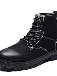 cheap -Men's Combat Boots PU(Polyurethane) Winter Casual Boots Keep Warm Mid-Calf Boots Gradient Black / Gray / Brown