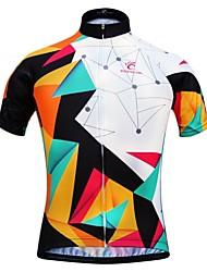 Недорогие -JESOCYCLING Жен. С короткими рукавами Велокофты - Черный / Белый Велоспорт Джерси Быстровысыхающий Виды спорта 100% полиэстер Горные велосипеды Шоссейные велосипеды Одежда / Эластичная