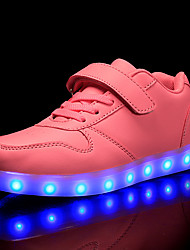 Недорогие -Мальчики / Девочки Обувь Синтетика Наступила зима Обувь с подсветкой Кеды LED для Дети / Для подростков Красный / Розовый / Тёмно-синий