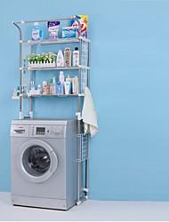 Недорогие -Полка для ванной Регулируемая длина / Складной / С компактным кабелем Современный ПВХ / Нержавеющая сталь / железо 1шт - Ванная комната Установка на полу