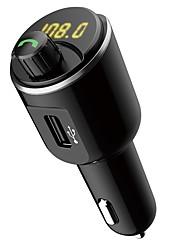 baratos -ziqiao t21 car mp3 player kit aparelho de fone de ouvido dual usb carregador transmissor fm
