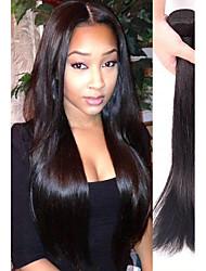 Недорогие -4 Связки Прямой человеческие волосы Remy Натуральные волосы Человека ткет Волосы Пучок волос One Pack Solution 8-28 дюймовый Естественный цвет Ткет человеческих волос Мягкость Легко туалетный Sexy