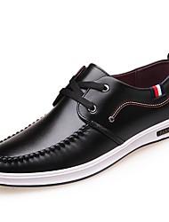 olcso -Férfi Kényelmes cipők Mikroszálas Ősz & tél Félcipők Fekete / Sárga