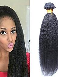 Недорогие -6 Связок Бразильские волосы Естественные прямые Натуральные волосы Необработанные натуральные волосы Головные уборы Человека ткет Волосы Уход за волосами 8-28 дюймовый Естественный цвет / 8A