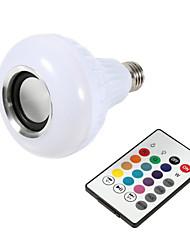 baratos -1 pc inteligente e27 rgb bluetooth speaker led bulbo de luz 12 w música tocando dimmable sem fio da lâmpada led 24 chaves de controle remoto