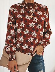 billige -Dame - Blomstret Gade Skjorte