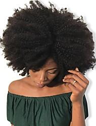 baratos -Dolago Com Presilha Extensões de cabelo humano Encaracolado Natural Extensões de Cabelo Natural Cabelo Humano Cabelo Brasileiro 7 pcs Sem Cheiros Natural 100% Virgem Todos - Preto Natural