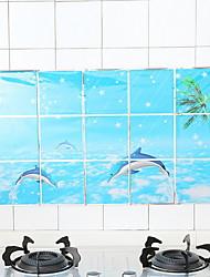 halpa -Keittiö Siivoustarvikkeet Muovit Oil-Proof Stickers Suoja 2pcs