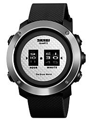 Недорогие -SKMEI Муж. Спортивные часы Наручные часы электронные часы Цифровой Стеганная ПУ кожа Черный 50 m Защита от влаги Творчество Новый дизайн Цифровой На каждый день Мода - Черный Черный / Серебристый