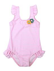 お買い得  -幼児 女の子 日常 ソリッド ポリエステル 水着 ピンク
