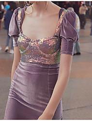 billige -Kvinders slanke tank top - solid farvet stroppe