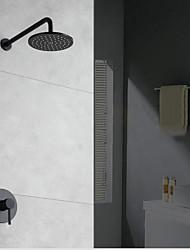 Недорогие -Смеситель для душа - Современный Окрашенные отделки Только душ Керамический клапан Bath Shower Mixer Taps / Латунь / Одной ручкой Два отверстия