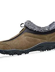 hesapli -Erkek Ayakkabı PU Kış Günlük Mokasen & Bağcıksız Ayakkabılar Günlük için Kahverengi / Yeşil
