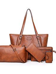 Női Táskák PU táska szettek 5 db erszényes készlet Cipzár Színes Rubin    Bíbor   Barna 9f5c131c2a