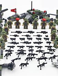 Недорогие -Конструкторы Фигурки из блоков Конструкторы Игрушки 437 pcs Армия Танк Воин совместимый Legoing моделирование Танк Вертолет Боец Мальчики Девочки Игрушки Подарок