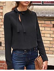 Недорогие -Жен. Рубашка Классический Однотонный