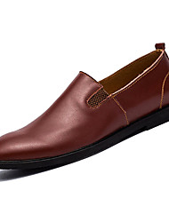 hesapli -Erkek Ayakkabı PU Kış Günlük Mokasen & Bağcıksız Ayakkabılar Günlük için Siyah / Kahverengi