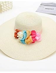 billige -kvinders polyester sol hat - geometrisk