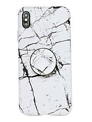 Недорогие -Кейс для Назначение Apple iPhone XS / iPhone XR / iPhone XS Max со стендом / IMD Кейс на заднюю панель Мрамор Мягкий ТПУ