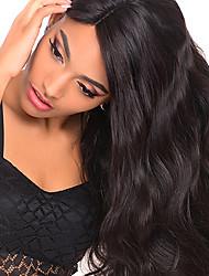 Недорогие -Не подвергавшиеся окрашиванию человеческие волосы Remy Лента спереди Парик Бразильские волосы Естественные кудри Парик 130% 150% Плотность волос / с детскими волосами / с детскими волосами