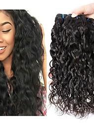Недорогие -6 Связок Перуанские волосы Волнистые Натуральные волосы Необработанные натуральные волосы Головные уборы Человека ткет Волосы Уход за волосами 8-28 дюймовый Естественный цвет Ткет человеческих волос