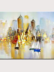 levne -Hang-malované olejomalba Ručně malované - Abstraktní Krajina Moderní Bez vnitřní rám