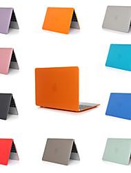 Недорогие -MacBook ноутбук чехол для Apple MacBook Air 11 12 13 15 сплошной цветной материал ПВХ для Mac Book New Pro 13,3 15 дюймов с сенсорной панелью