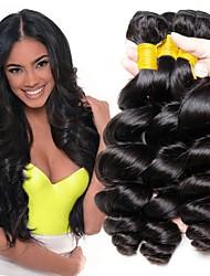 Χαμηλού Κόστους -3 δεσμίδες Περουβιανή / Ινδική Χαλαρό Κυματιστό Φυσικά μαλλιά / Χωρίς επεξεργασία Ανθρώπινη Τρίχα Δώρα / Τεμάχια Κεφαλής / Υφάνσεις ανθρώπινα μαλλιών 8-28 inch Φυσικό Χρώμα Υφάνσεις ανθρώπινα μαλλιών