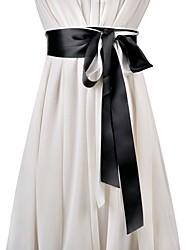 Недорогие -Ткань Свадьба / Особые случаи Кушак С Однотонные Жен. Пояса и ленты