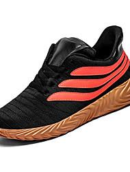 hesapli -Erkek Ayakkabı PU / Tissage Volant Kış Sportif Atletik Ayakkabılar Koşu Atletik için Siyah / Siyah ve Beyaz / Turuncu & Siyah / Zıt Renkli