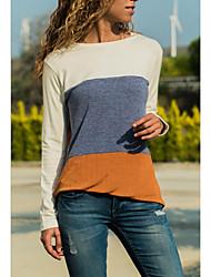 billige -Dame - Farveblok Gade T-shirt