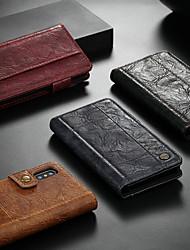 Недорогие -CaseMe Кейс для Назначение Apple iPhone XR / iPhone XS Max Кошелек / Бумажник для карт / со стендом Чехол Однотонный Твердый Кожа PU для iPhone XS / iPhone XR / iPhone XS Max