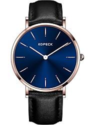 Недорогие -Kopeck Муж. Наручные часы электронные часы Японский Японский кварц Натуральная кожа Черный / Коричневый / Шоколадный Защита от влаги Повседневные часы Аналоговый Мода Цветной -