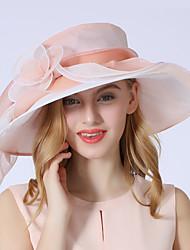 Недорогие -Elizabeth Чудесная миссис Мейзел Жен. Взрослые Дамы Ретро Фетровые шляпы Кентукки шляпа дерби Шляпа чародея шляпа Розовый Цветы Тюль Головные уборы Лолита Аксессуары