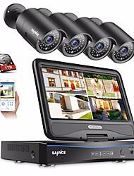 Недорогие -sannce 4ch 1080p 4шт встроенный жк-видеорегистратор водонепроницаемая система видеонаблюдения монитор IP-камеры с 1 ТБ HD видеонаблюдения системы видеорегистраторы комплекты ip66