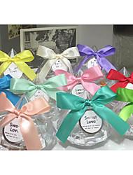 Недорогие -Taper Shape пластик Фавор держатель с Вышивка бисером в виде цветов Горшки и банки для конфет - 1 шт.