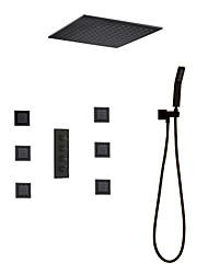 Недорогие -смеситель для душа - современная окраска душевой системы керамический клапан / латунь смесители для душа