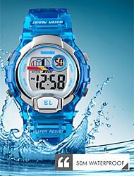 levne -SKMEI Dámské Digitální hodinky Digitální Silikon Černá 50 m Voděodolné Kalendář Chronograf Analog - Digitál Na běžné nošení Módní - Černá Fialová Modrá / Stopky / Svítící
