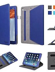 Недорогие -Кейс для Назначение Apple iPad (2018) / iPad Air 2 Защита от удара / Флип / Оригами Чехол Однотонный Твердый текстильный для iPad Air / iPad Mini 3/2/1 / iPad Mini 4