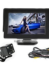 Недорогие -renepai® 4,3 дюймовый монитор + беспроводной 170 ° HD заднего вида автомобиля камера + высокой четкости широкоугольный Водонепроницаемая