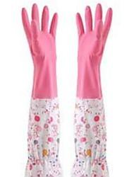 billige -Køkken Rengørings midler Gummi Handsker Liv 4stk