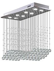 abordables -8 lumières Cristal Lustre Lumière dirigée vers le bas Plaqué Métal Cristal, Ampoule incluse, Designers 110-120V / 220-240V Blanc Crème / Blanc Neige Ampoule incluse / GU10