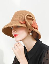 abordables -Elizabeth La merveilleuse Mme Maisel Chapeaux de feutre chapeau dames Rétro / Vintage Femme Café / Cyan / Rose Bloc de Couleur Nœud papillon Fabrication CAP Fibre Les costumes