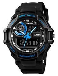 Недорогие -SKMEI Муж. Спортивные часы Армейские часы Цифровой Стеганная ПУ кожа Черный 50 m Будильник Календарь Секундомер Аналого-цифровые На каждый день Мода - Черный Красный Синий Один год Срок службы батареи
